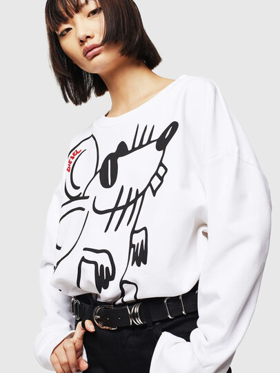 Diesel - CL-F-MAGDA-BIGM, White - Sweaters - Image 1