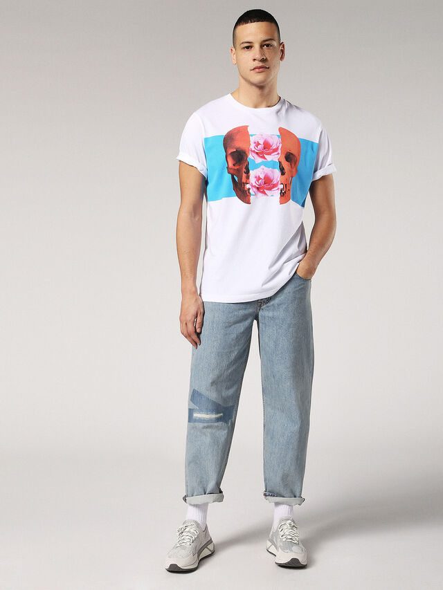 Diesel - T-JUST-SW, White - T-Shirts - Image 4