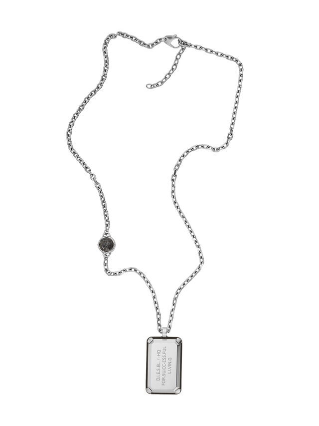Diesel NECKLACE DX1019, Silver - Necklaces - Image 1