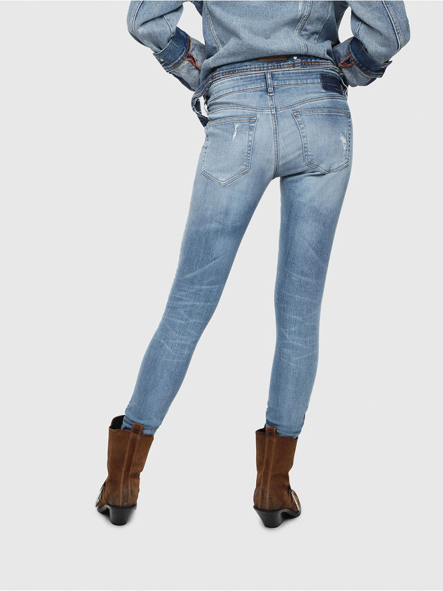Diesel - Slandy Low 086AH, Light Blue - Jeans - Image 2