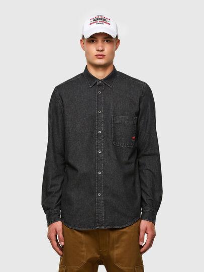 Diesel - D-BILLY, Black - Denim Shirts - Image 1