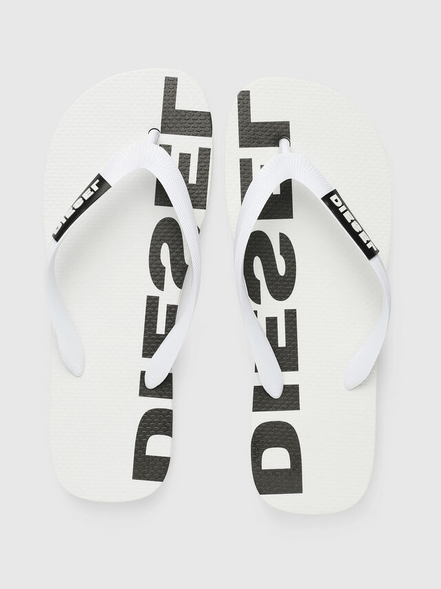 Diesel - SA-BRIIAN W, White/Black - Slippers - Image 2