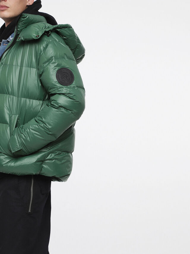 Diesel - W-SMITH-A, Bottle Green - Winter Jackets - Image 3