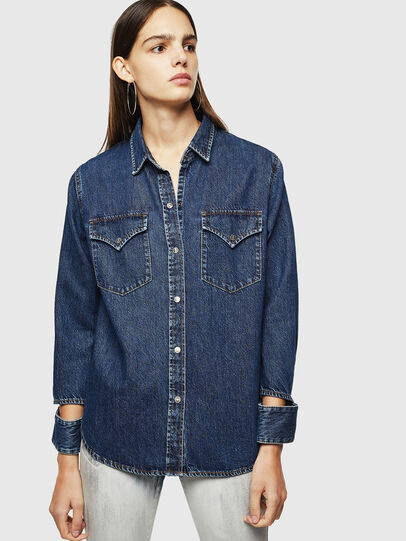 Diesel - DE-COLLY, Medium blue - Denim Shirts - Image 1