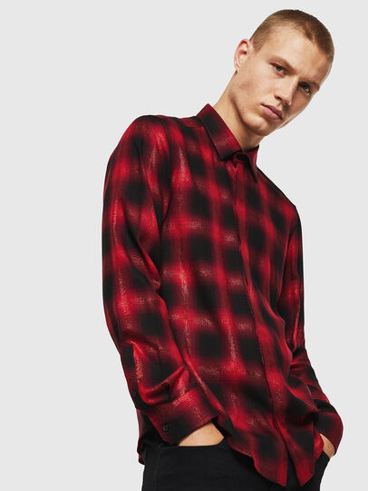 Diesel - S-MARLENE-C, Red/Black - Shirts - Image 1