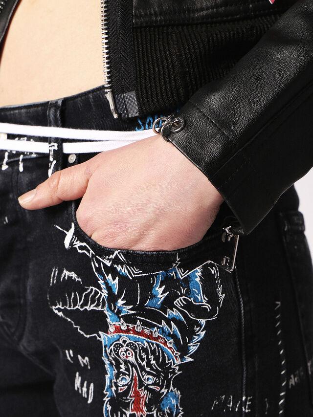 Diesel - L-LYSSA-B, Black Leather - Leather jackets - Image 5