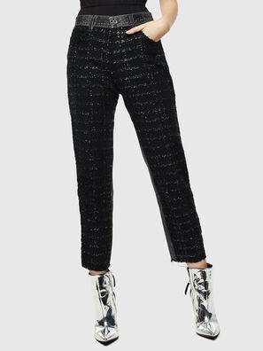 P-GITTE-NEW, Black/Dark grey - Pants