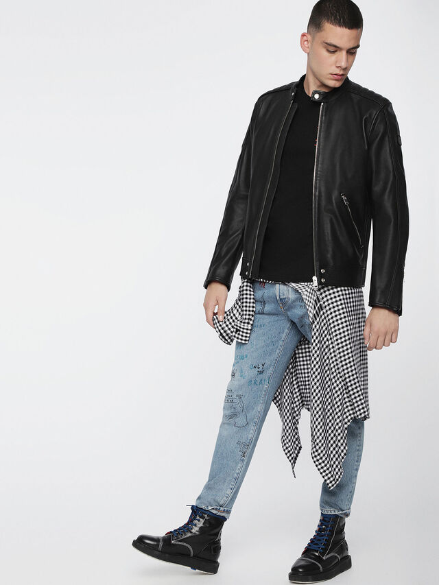 Diesel L-QUAD, Black Leather - Leather jackets - Image 6