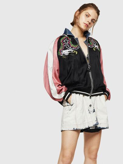 Diesel - G-IOIO, Black/Pink - Jackets - Image 1