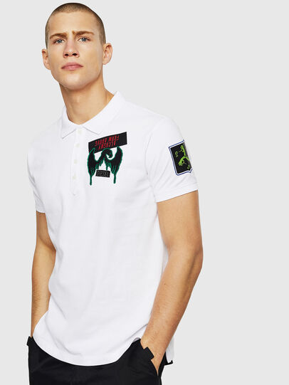 Diesel - T-POLO-PATCHES, White - Polos - Image 1