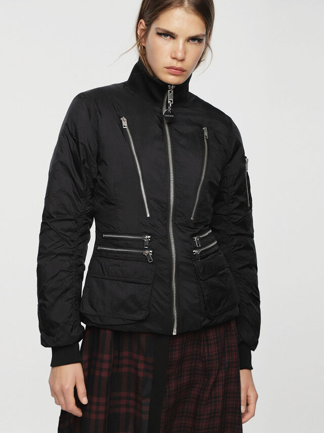 Diesel - W-BLANKYT, Black - Winter Jackets - Image 1