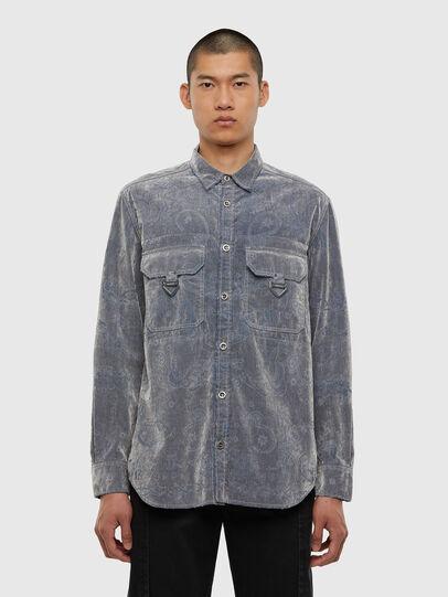 Diesel - D-RONNY, Grey - Denim Shirts - Image 1