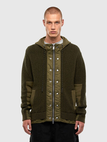 Diesel - K-THOMPSON, Olive Green - Jackets - Image 1