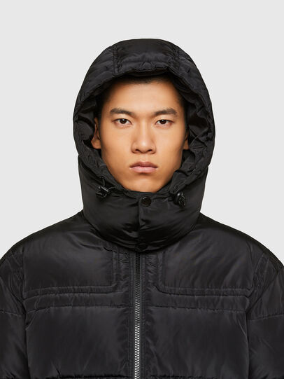 Diesel - W-RUSSELL-WH, Black - Winter Jackets - Image 3