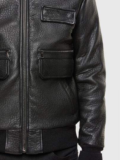 Diesel - L-FRED, Black - Leather jackets - Image 5
