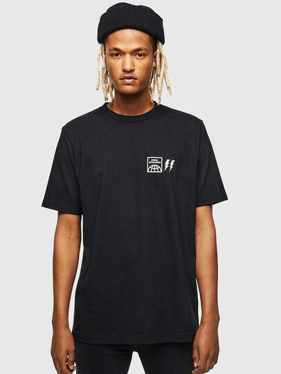 Diesel - T-JUST-VINT, Black - T-Shirts - Image 1
