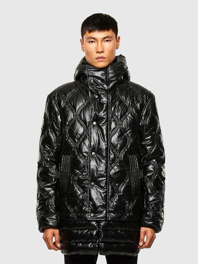 Diesel - W-CRAWFORD-SHINY, Black - Winter Jackets - Image 1