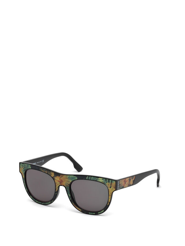 Diesel - DM0160, Black/Orange - Eyewear - Image 4