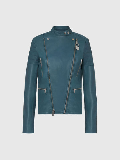 Diesel - L-MARS, Water Green - Leather jackets - Image 1