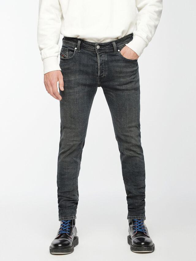 Diesel - Sleenker 084VQ, Black/Dark grey - Jeans - Image 1