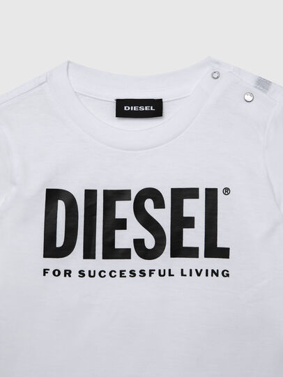 Diesel - TJUSTLOGOB ML, White - T-shirts and Tops - Image 3