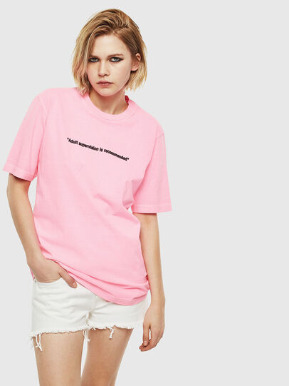 Diesel - T-JUST-NEON, Pink - T-Shirts - Image 2