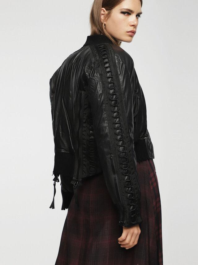 Diesel - L-WICA, Black - Leather jackets - Image 5