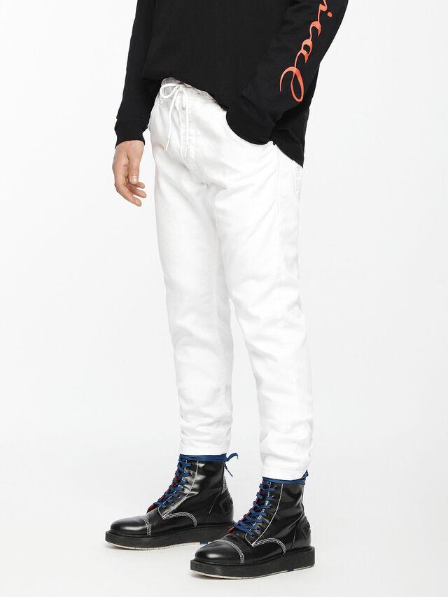 Diesel Krooley JoggJeans 0684U, White - Jeans - Image 1