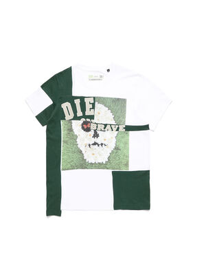D-FRANKENSTEIN 2.1, White/Green - T-Shirts