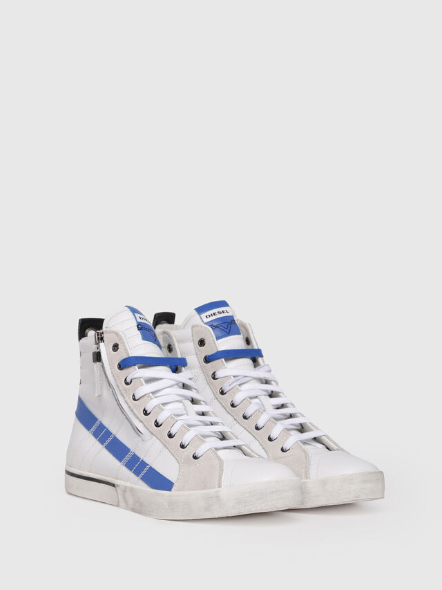 Diesel - D-VELOWS MID LACE, White/Blue - Sneakers - Image 3