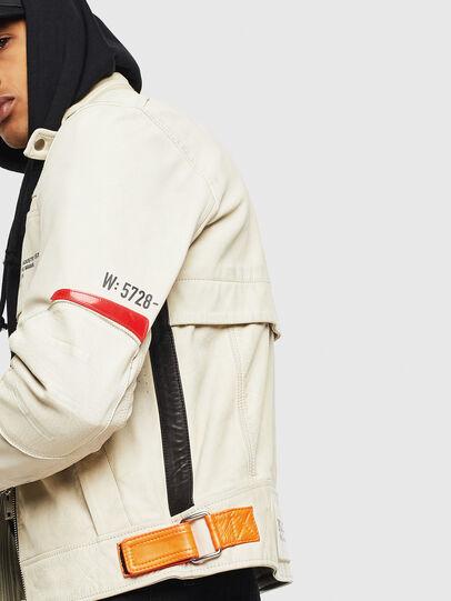 Diesel - L-DIXON, White - Leather jackets - Image 7