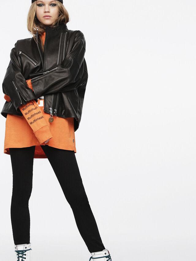 Diesel - L-DROP, Black Leather - Leather jackets - Image 5