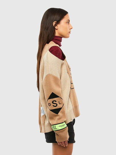 Diesel - M-ALYCIA, Beige - Knitwear - Image 3