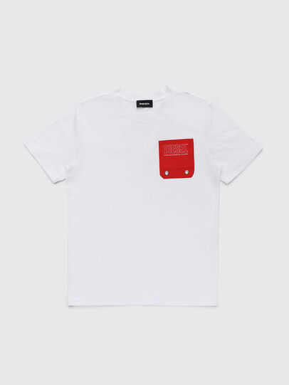 Diesel - TBMOW, White/Red - T-shirts and Tops - Image 1