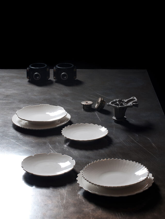 Living 10986 MACHINE COLLEC, White - Plates - Image 3