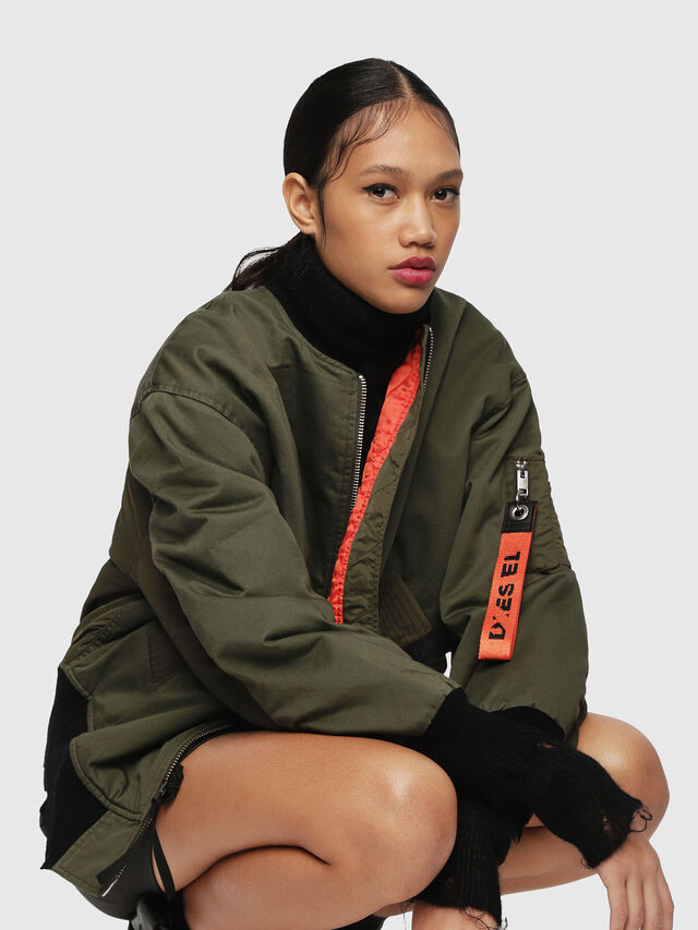 Diesel - W-ZALIA, Military Green - Winter Jackets - Image 4