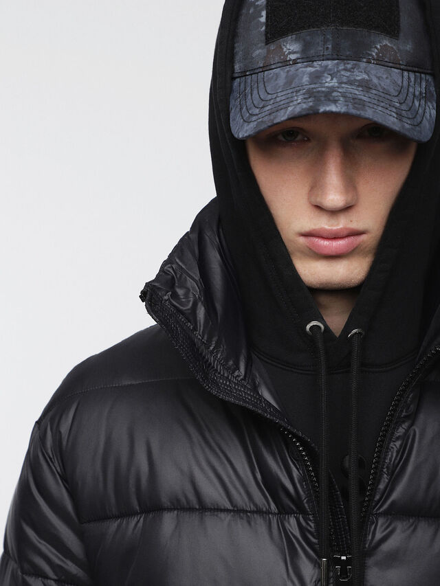 Diesel - W-SMITH-A-WH, Black - Winter Jackets - Image 5