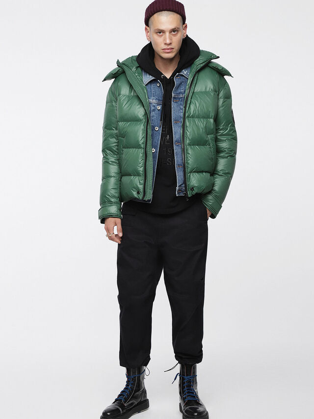 Diesel - W-SMITH-A, Bottle Green - Winter Jackets - Image 4