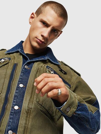 Diesel - D-MALLY, Blue/Green - Denim Jackets - Image 3