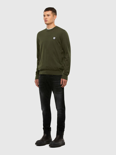 Diesel - K-FREEX-B, Military Green - Knitwear - Image 4