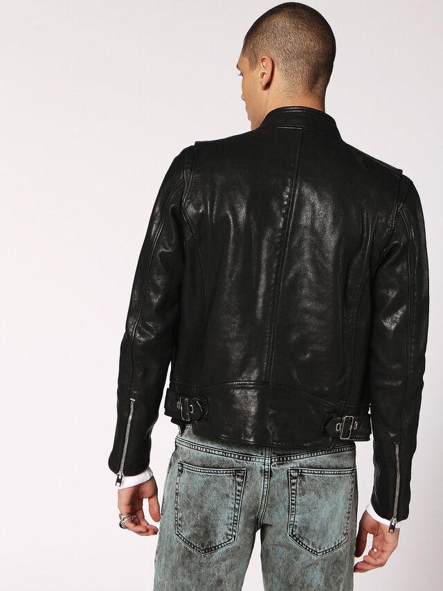 Diesel - L-HARDSTYLE, Black - Leather jackets - Image 2
