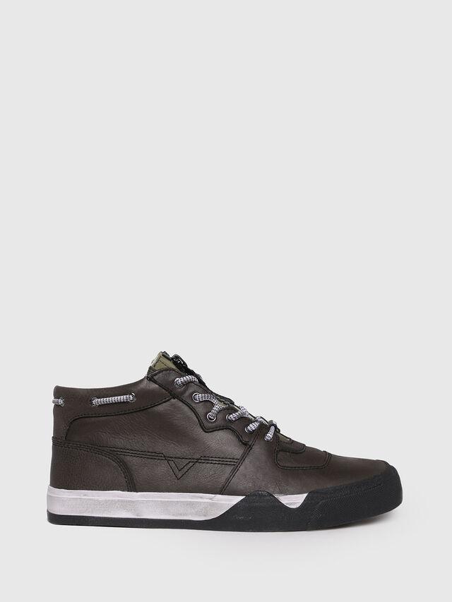 Diesel - S-GRINDD MID ZIP, Black - Sneakers - Image 1