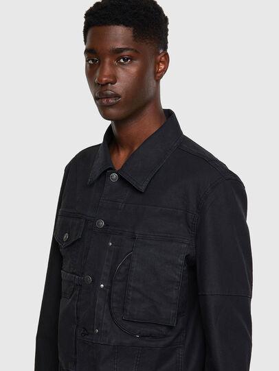 Diesel - D-COSNIL-SP JOGGJEANS, Black - Denim Jackets - Image 4