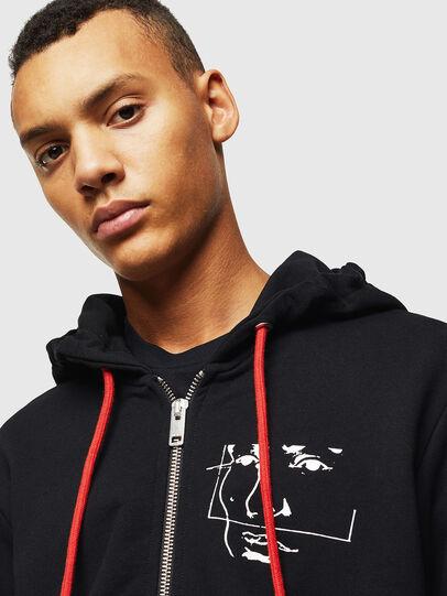 Diesel - S-GIRK-HOOD-ZIP-1, Black - Sweaters - Image 4