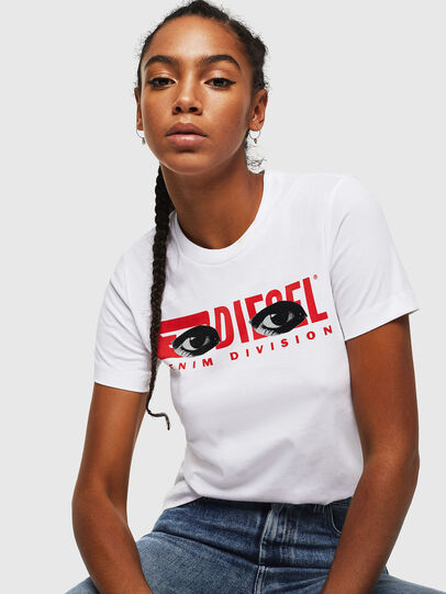 Diesel - T-SILY-YD, White - T-Shirts - Image 4