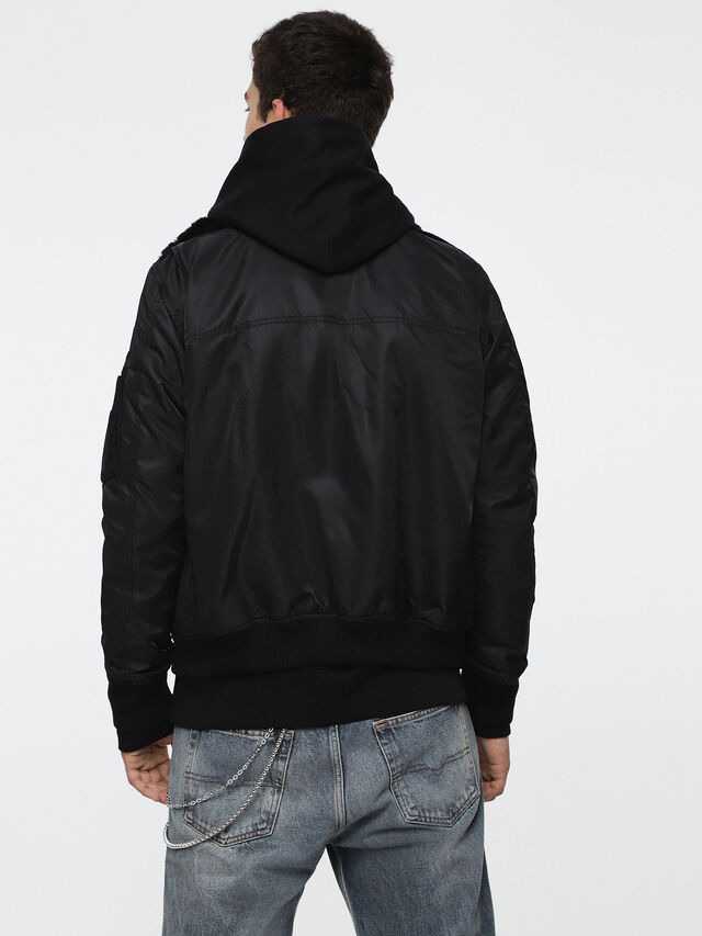 Diesel - W-SLOTKIN, Black - Winter Jackets - Image 2