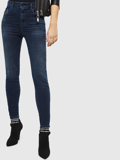 Diesel - Slandy High 084UT, Dark Blue - Jeans - Image 1