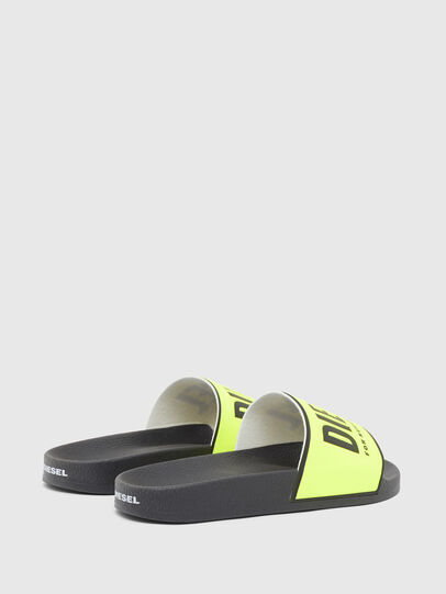 Diesel - SA-VALLA W, Black/Yellow - Slippers - Image 3