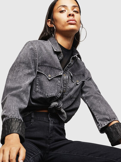Diesel - DE-COLLY, Black/Dark grey - Denim Shirts - Image 4