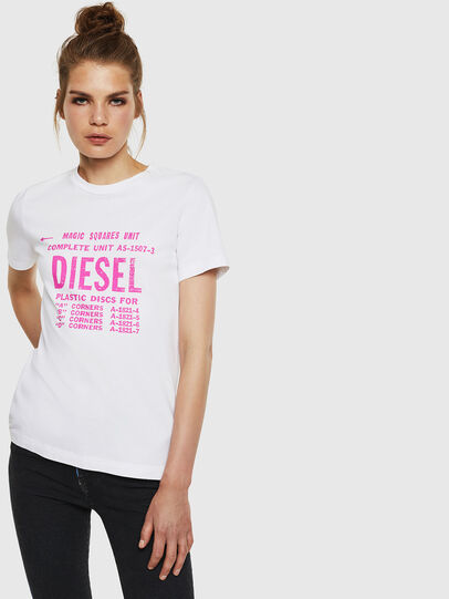 Diesel - T-SILY-ZF, White - T-Shirts - Image 1